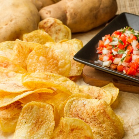 Madame Chang's Crispy Potato Chips with Salsa Sauce