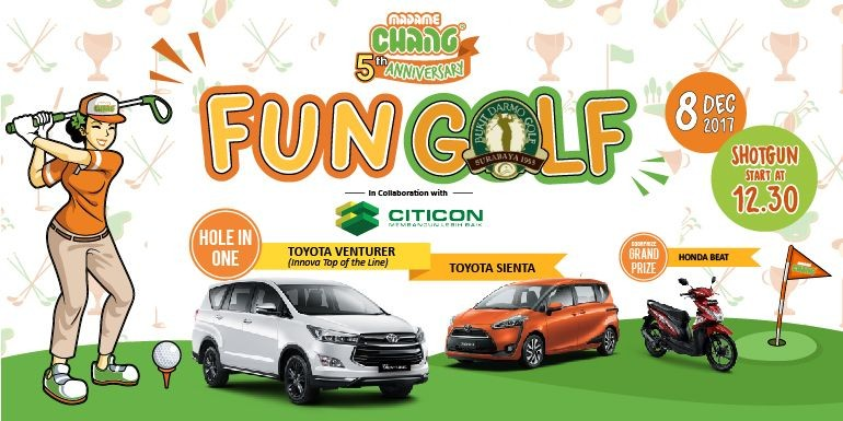 Madame Chang 5th Anniversary Fun Golf with Citicon!
